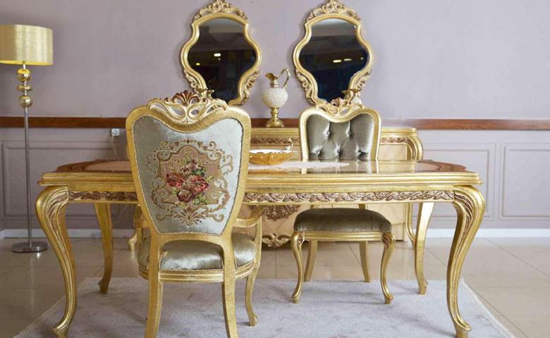 Klasik yemek odası masa sandalye