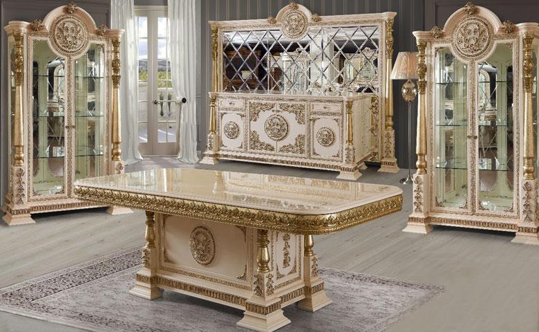 Klasik yemek odası masası