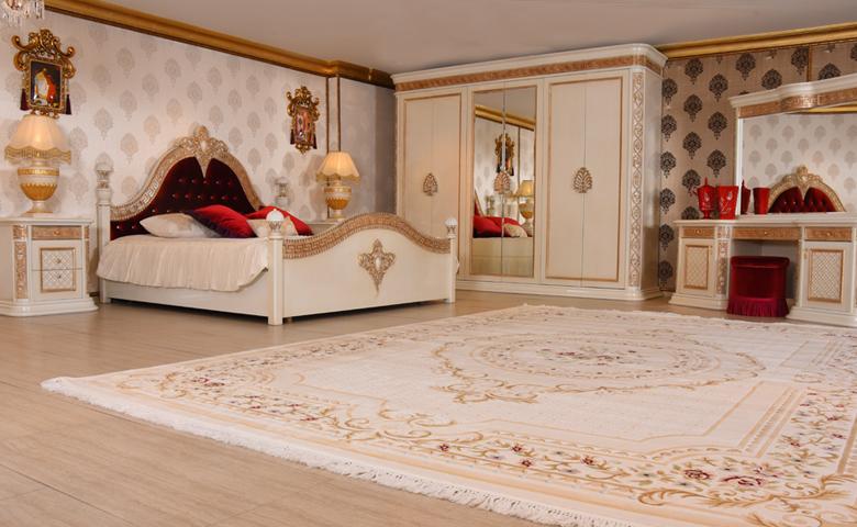 beyaz klasik yatak odası