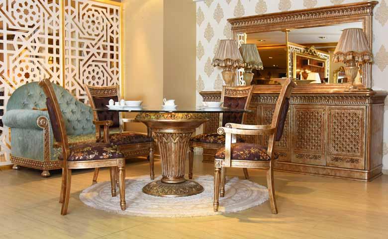 klasik cam masalı yemek odası