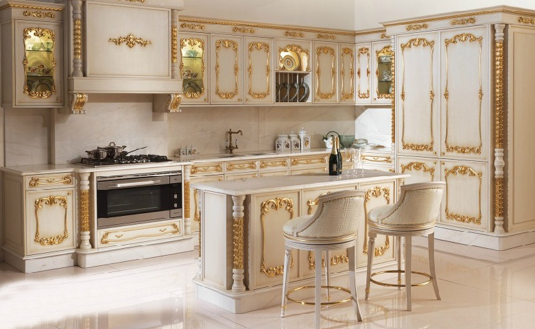 klasik mutfak dekoru