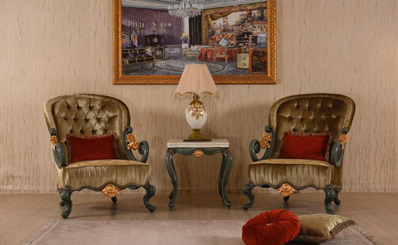 antik tasarımlı klasik koltuk