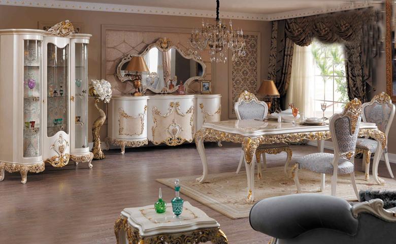 klasik yemek odası resimleri