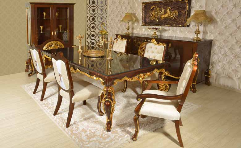 klasik yemek odası mobilyası