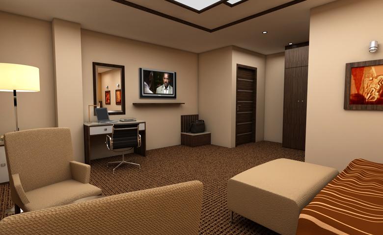 modern otel odası