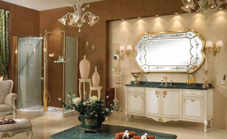klasik banyo dekoru
