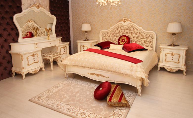 kapitoneli klasik yatak odası