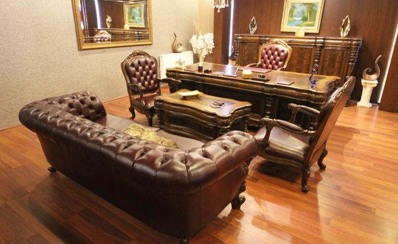 deri ofis mobilyası