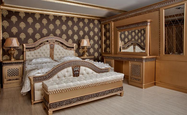 oymalı klasik yatak