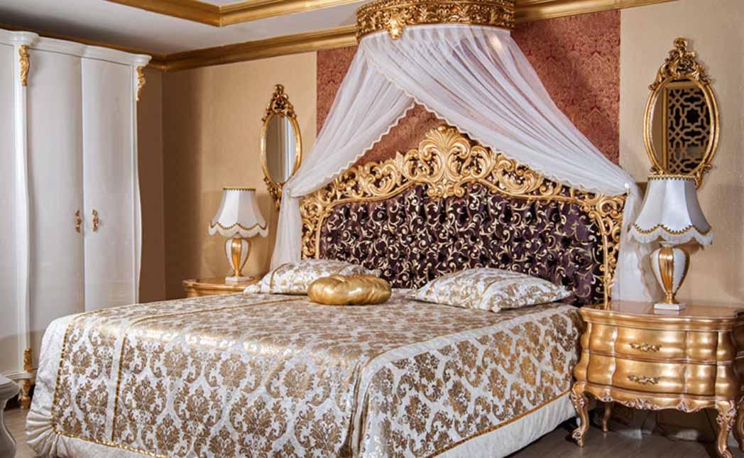 lüks klasik yatak odası