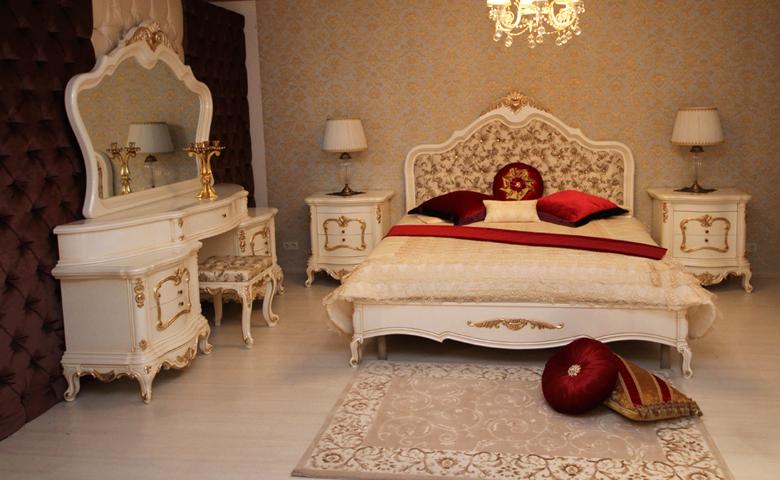 sakura beyaz klasik yatak odası takımı