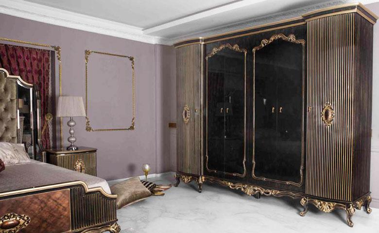 Klasik yatak odası gardırop