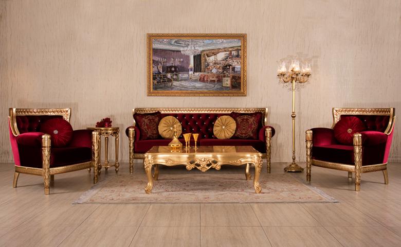 altın varak renkl klasik koltuk