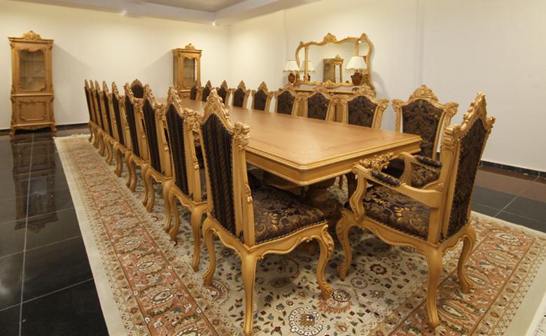 uzun klasik yemek masası