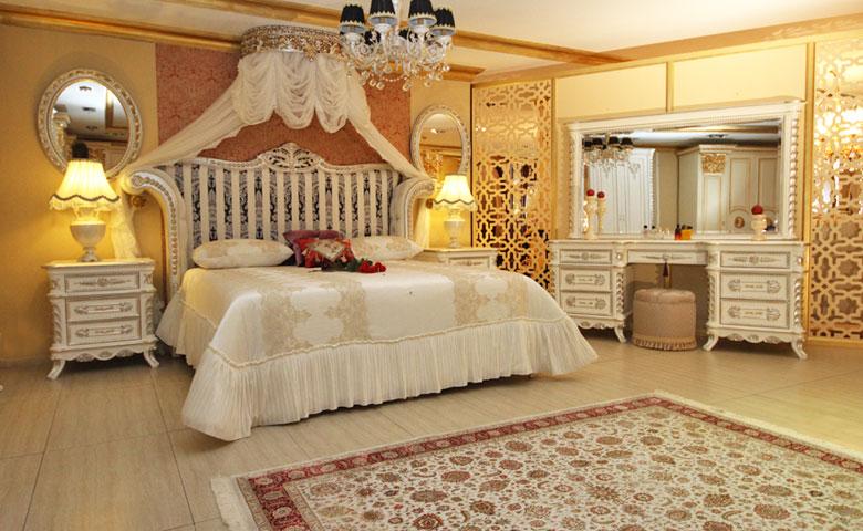 klasik yatak odası dekorasyonu