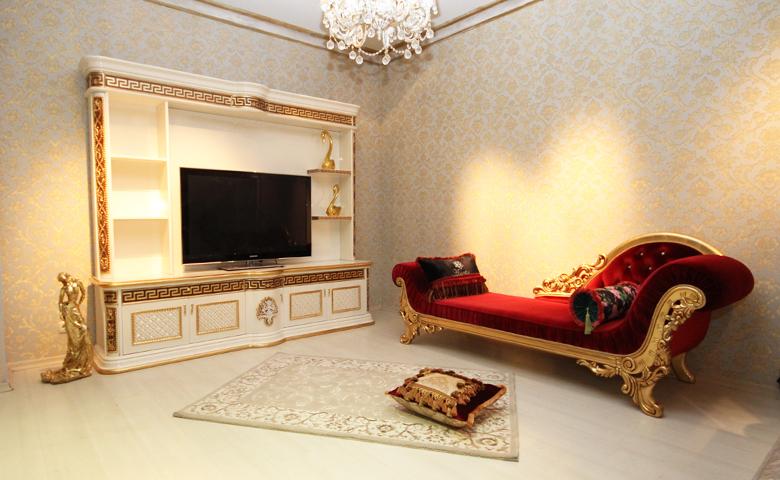 beyaz altın varak tv ünitesi
