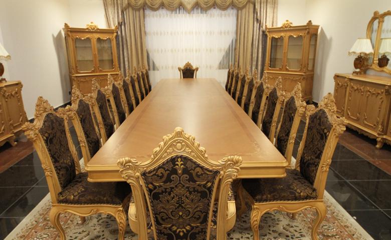 klasik ahşap yemek masası