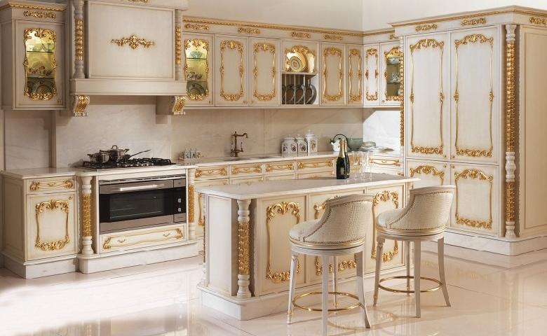 Klasik mutfak dolaplar mutfak mobilyalar klasik - Cucina stile barocco ...