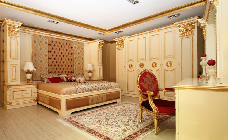 klasik yatak odası dekoru