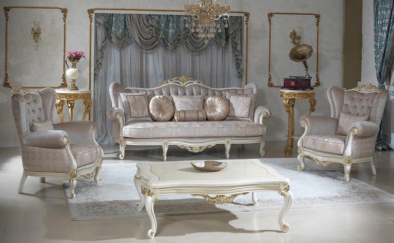 Vivaldi Classic Living Room - Luxury Classic Sofa Set