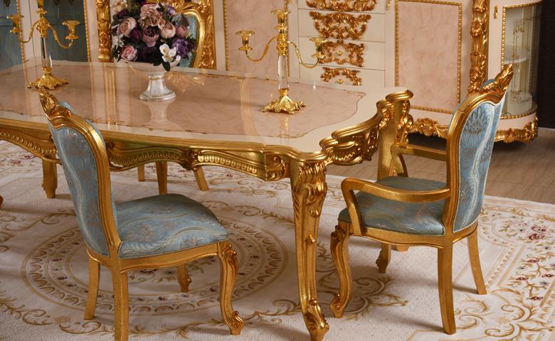 El oymalı masa sandalye
