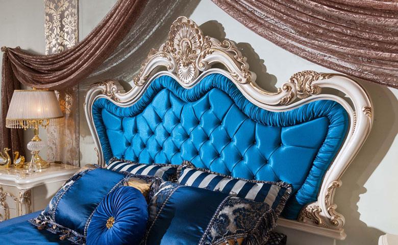 Klasik yatak odası yatak başlığı