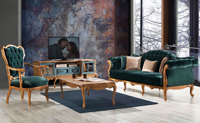 grand chester salon complet mobilier
