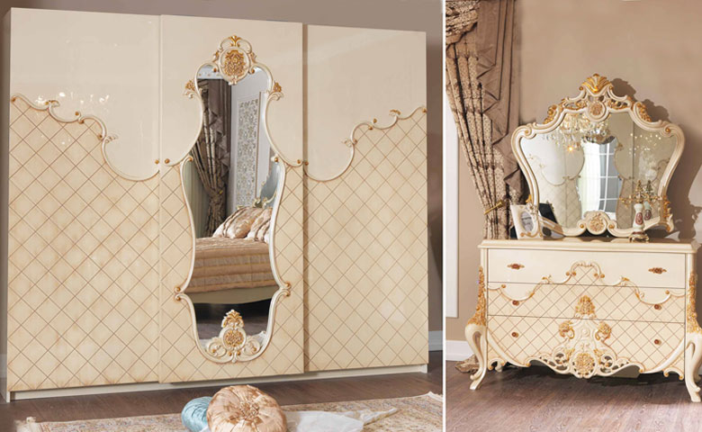İstanbul klasik yatak odası şifonyer